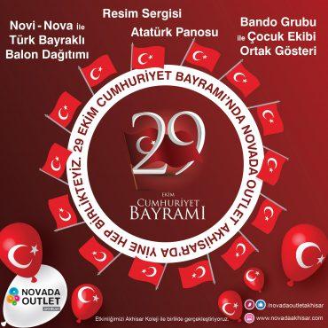 29 Ekim Cumhuriyet Bayramı Novada Outlet Akhisar'da