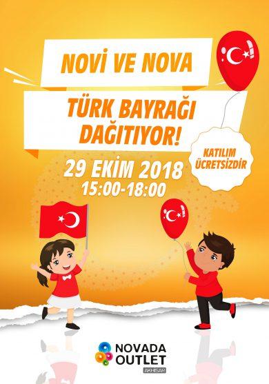 Novi ve Nova Türk Bayrağı Dağıtıyor