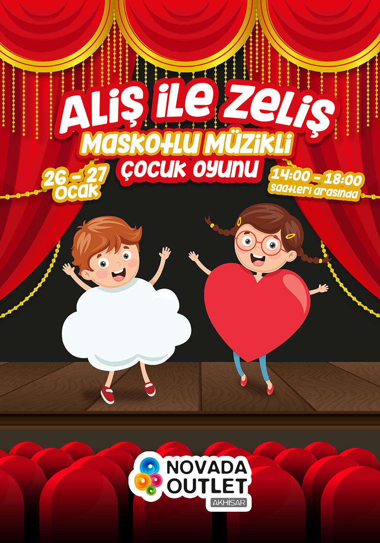Aliş ile Zeliş Maskotlu Müzikli Çocuk Oyunu